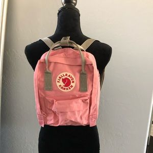 Fjallraven Kanken Mini Backpack Pink and Gray